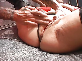 Hot Brunette Cougar Pounded away from Two Guys- FMM