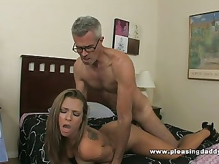 Young Slutty Brunette Shyla Jameson Fucks Old Bushwa