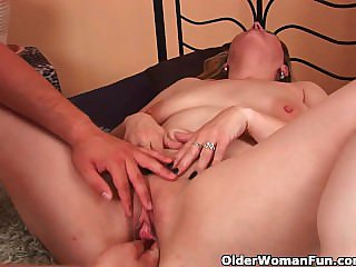 Big boobed mom enjoys his fist added to cock up will not hear of adult pussy