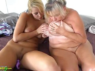 OLDNANNY Teen girl with the addition of her big boobs with the addition of wet pussy