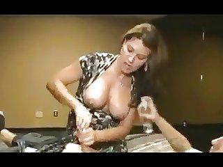 Cougar a Handjob on Young Man-daddi
