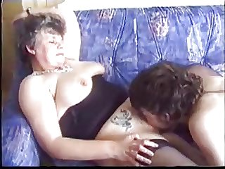 Mature seduces young guy involving porn