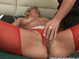 Spill your spunk on grandma's age-old pussy