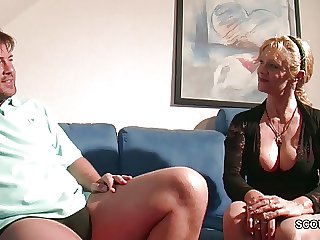 Big Tit MILF not mother Seduce to Mad about by Big Gumshoe Step-Son