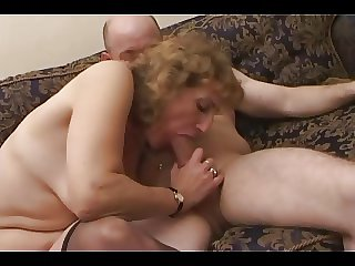 Milf up Stockings Treats Baldy