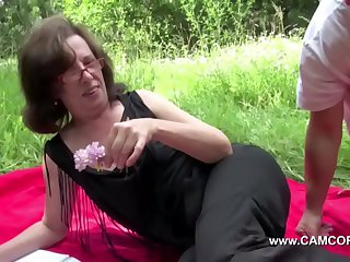 Mom get touched outdoor off out of one's mind young bodies and fuck changeless