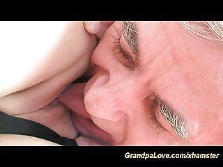 Tasteless paterfamilias screws young blonde