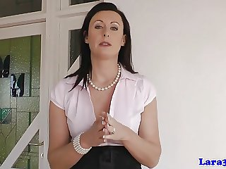 British milf fingered by schoolgirl in uniform