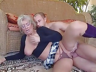Granny plus young man - 27