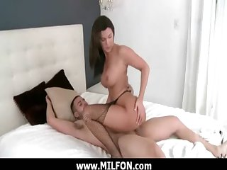 Horny milf get a hard dong from a dealings hunter 20