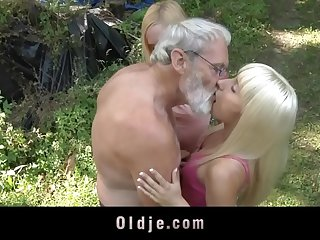 Bearded oldman triple more blonde minority