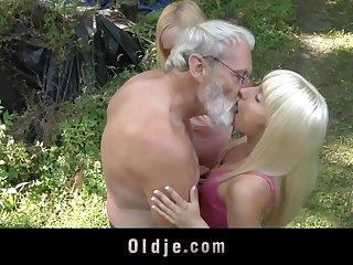 Bearded oldman triple more blonde minority