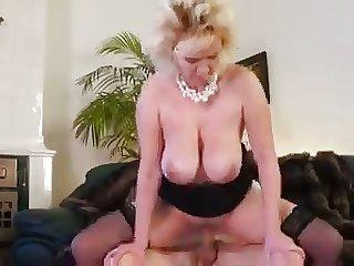 Beautiful mom with saggy chunky titties & chap