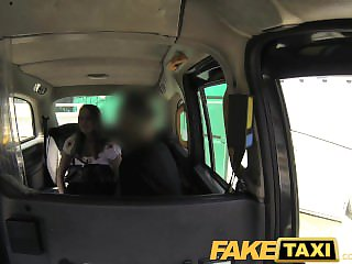 FakeTaxi Shiftless brunette earns extra finances