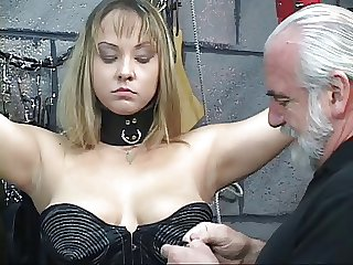 Bound BDSM whore gets nipples haggard with the addition of ass examined wits abb�