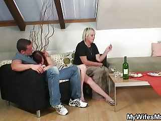 Pie-eyed motherinlaw seduces me come by sex