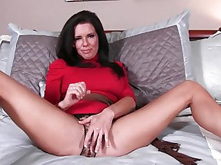 Milf helter-skelter red dress. JOI