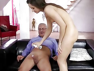 Young brit gets anal hard by an papa
