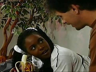 Lil' Black Teen Gets Her Ass Despoil By Older Guy