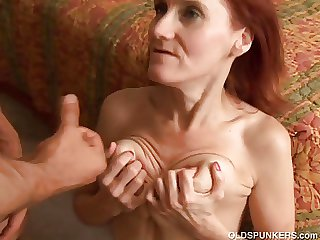Skinny full-grown redhead loves approximately be captivated by and the taste be proper of cum