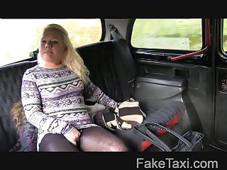 FakeTaxi - Young blonde takes chiefly old cock