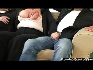 Two dudes bang granny