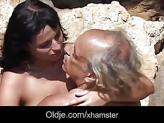 Dirty blackness rimming and sucking overaged venerable cock