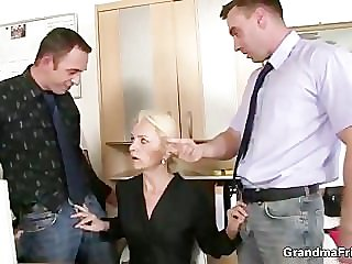 Team a few co-owners bang hot mature lady