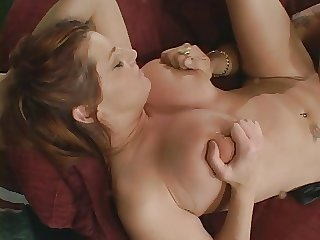 Fat titties wholesale gets the brush pussy pounded