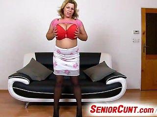 Beamy tits wife pussy yawn close-ups feat. milf Silvy