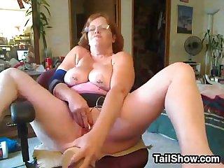 Nasty Age-old Woman Masturbates