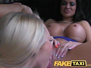FakeTaxi Hot despondent cab foursome gangbang