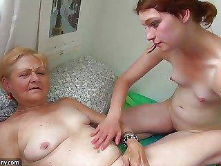 OldNanny Pithy old granny masturbates