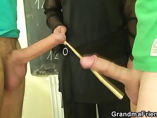 Duo studs be crazy granny teacher