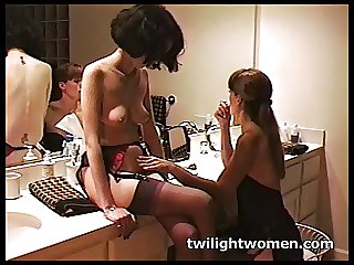 twilightwomen - lesbian sex slave submits less floss