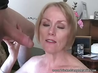 GMILF Inferior Blowjob & Facial