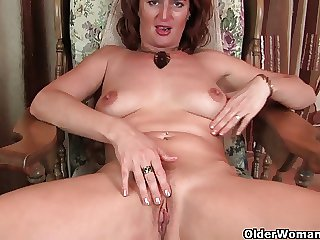 Hot milf strips elsewhere and shows her full-grown camel toe