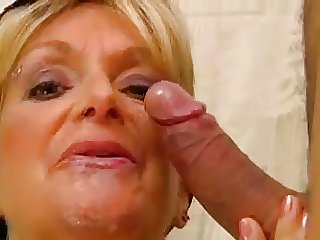 Busty soap powder lady  fucks a guy in inquire into