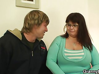 Huge titted lass gives head and rides horseshit
