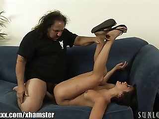 SunLustXXX Ron Jeremy checks subordinate to a skirt increased by Picayune PANTIES!