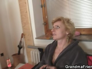 Delivery guys kitchen garden small titted mommy