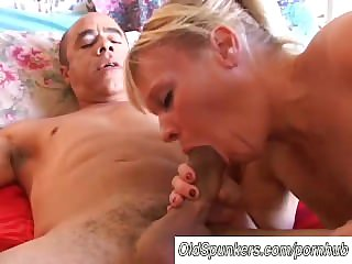 Gorgeous mature blonde Haley is a hot fuck