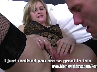 Adult Blonde Stepmom Aggravation Spanking Her Stepson