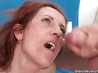 Female parent loves rolling in money when you cum in the brush mouth
