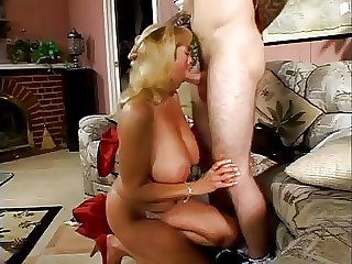 Heavy Tittied Blonde MILF Rheina Shine Loves Young Bushwa