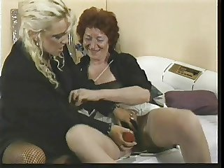 one old lesbo ladies with toys