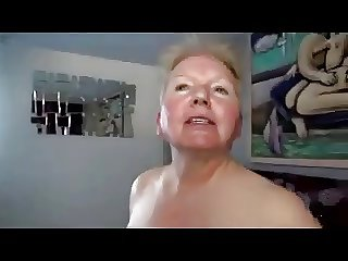Sex-mad Granny Takes on Two Cocks