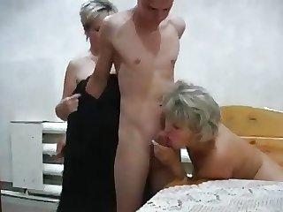 Russian moms Irina - Valia far make an issue of sauna