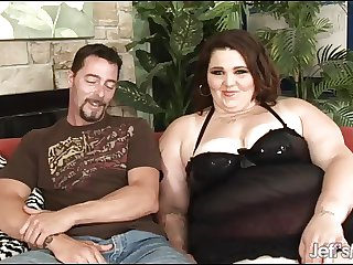 BBW Sexy Angie Luv wraps her heavy pussy round a dick