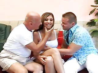 OLD MAN AND TEEN n33 blonde german teen babe coupled with doyen men